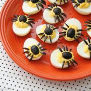 deviled egg spiders